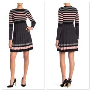 Eliza J Pleated Fit & Flare Dress
